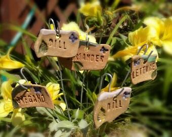 garden label, Garden Plant Markers - Herb stake , herb marker, vegetable marker,   (5) markers plants your choose   - # 20