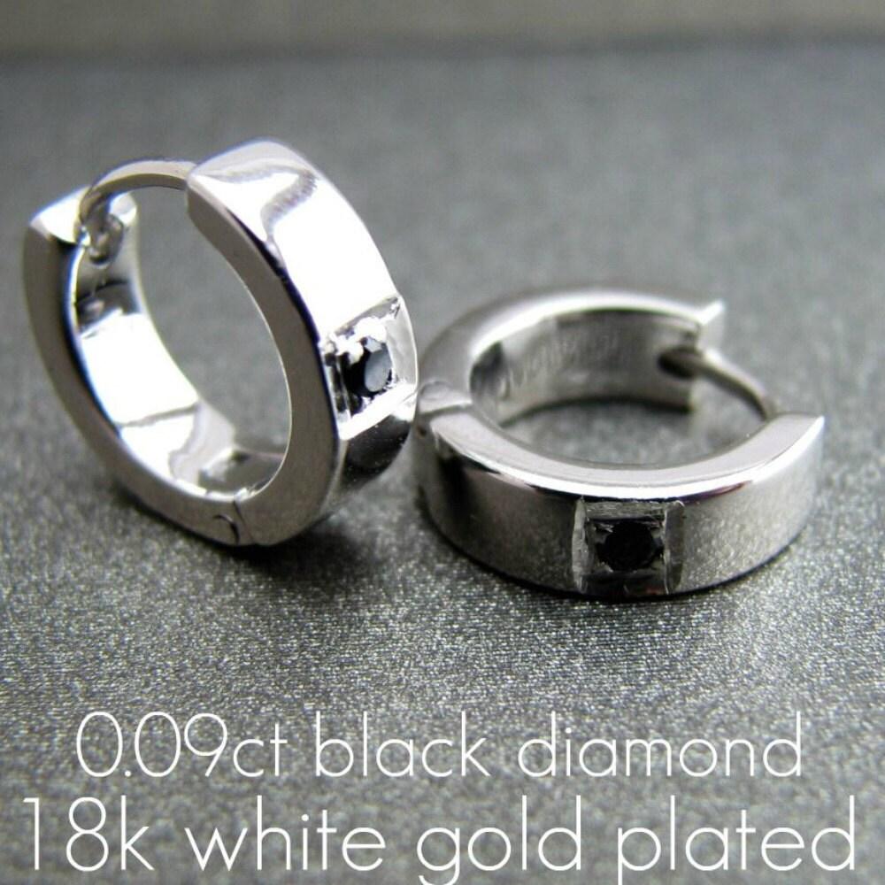 Men\'s hoop earrings men\'s earrings hoops white gold
