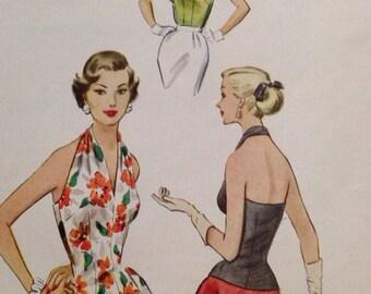 Vintage McCall's 9423 Summer Halter Top UNCUT size 12