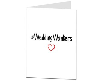Wedding Card. Funny Wedding Card. Congratulations Just Married On Your Wedding Day. Congrats Bride & Groom Card