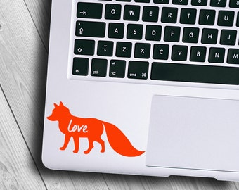 Fox Decal / Fox Sticker / Baby Fox Decal / Woodland Decal / Fox Vinyl / Cute Animal Decal / Cell Decal / Rtic Decal / Forest Animal Decal
