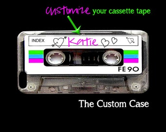 MIX TAPE Phone Case, Customized Cassette Tape Phone Case, Mix Cassette Tape Case, Iphone 4/5/5c/6/6+/6s, Samsung Galaxy S3/S4/S5/S6/S6 Edge+