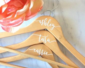 Bridesmaid hanger | Bride Hanger | Wedding Hanger | Maple Wood | Personalized Dress Hanger | Maid of Honor