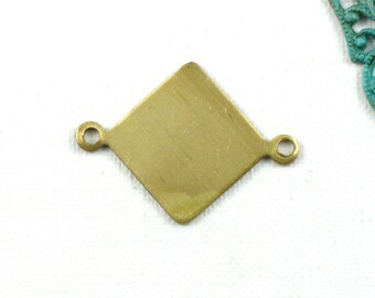 10 gold blank Diamond jewelry charms . 21mm x 15.5mm (ST80).