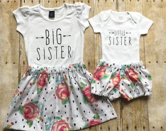 Big Sister Little Sister Outfits, Big Sister Shirt, Little Sister infant bodysuit, Matching Sister Outfits, Sister Gift,Sister Shirts