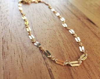 Kala necklace - gold chain necklace, gold necklace, simple gold necklace, gold filled chain necklace, layering necklace, hawaii Jewelry
