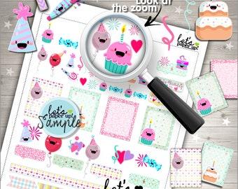 60%OFF - Birthday Stickers, Printable Planner Stickers, Celebration Stickers, Party Stickers, Cute Stickers, Planner Accessories