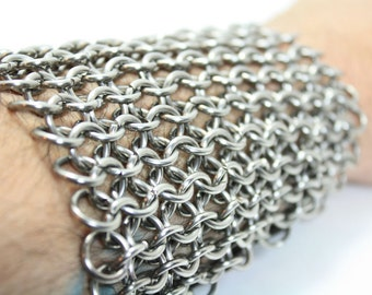 Knight Chainmaille Vambrace Arm Guard Stainless Steel