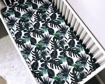 CUSTOM LISTING-crib sheet  - Tropical custom printed crib sheet,
