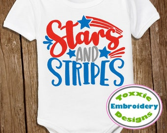 Stars and Stripes Word Art