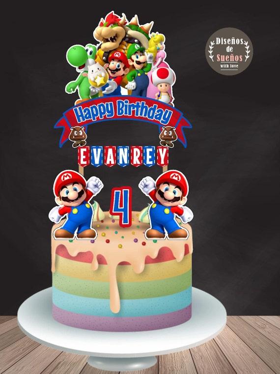 Super Mario Bros Cake Topper Super Mario Bros Birthday Super