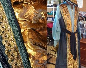 MADE TO ORDER wizard dress, Mage costume set, Wiccan sorcerer, Zeddicus Zorander Legend of the Seeker inspired replica