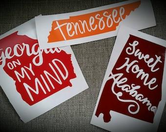 Tennessee state decal vinyl sticker
