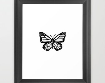 Mystical All Seeing Monarch Butterfly PDF Digital Art Print Christmas New Year Holiday Gift