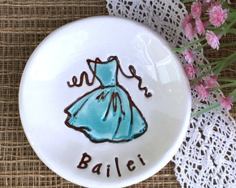 Personalized Bridesmaid Gift Ring Dish - Bridesmaid Jewelry Dish, Ring Dish Personalized, Trinket Dish, Ring Holder Dish, Catch All Dish