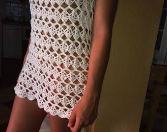 Summer Special dress, handmade in crochet