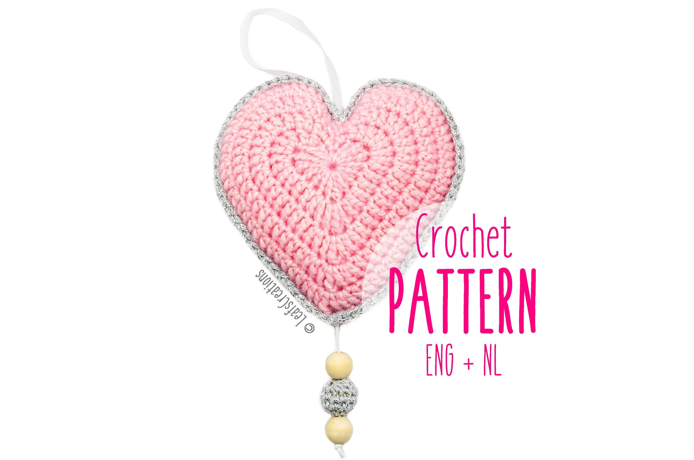 Crochet pattern music box heart Tutorial Music box heart