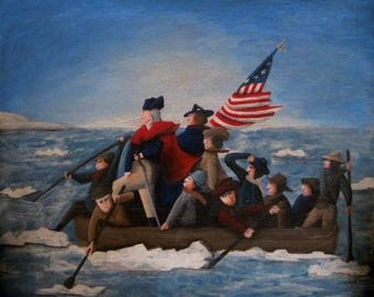 Washington Crossing The Delaware Giclee Print by Tim Campbell