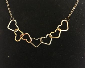 Multi colored heart jewelry