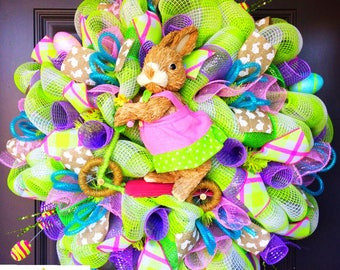 Easter Bunny Wreath, Easter Decor, Easter Wreath, Spring Wreath, Bunny butt wreath, bunny bottom, Front Door Wreath, bunny bottom wreath
