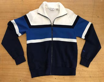 Awesome Vintage Christian Dior Monsieur Blue and White Color Blocked Sporty Track Jacket