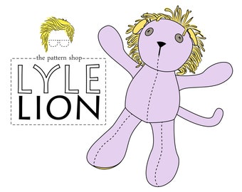 Lyle Lion Stuffed Animal Sewing Pattern