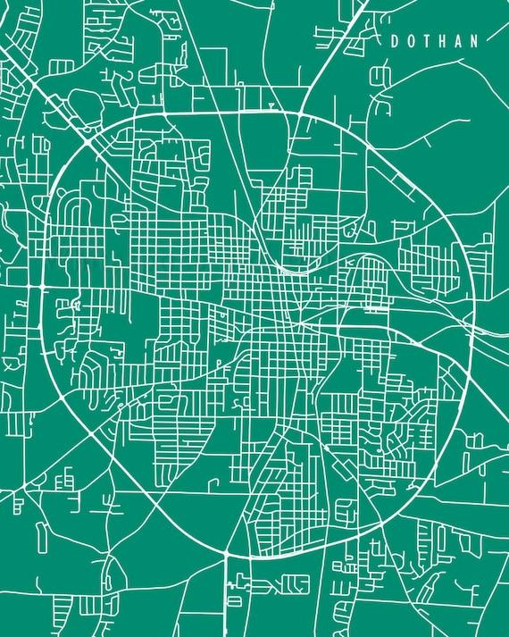 Dothan Map Dothan Art Dothan Map Art Dothan Print Dothan