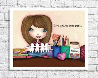 Gift For Crafter Artist Present Craft Room Idea Colorful Artwork Sewing Room Decorations Teen Bedroom Art Tween Wall Decor Girls Art Print