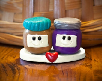 Peanut Butter and Jelly love, clay figure