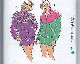 Kwik Sew 2399 - MISSES Jacket and Shorts / Sizes XS, S, M, L, XL