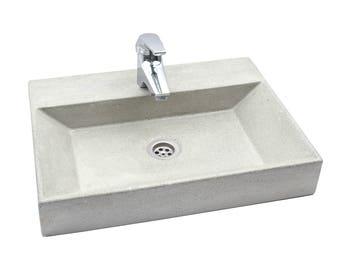Gray Concrete Sink UB10