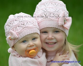 Knitting Pattern - Lacy Waves Hat (from Baby to Adult sizes)