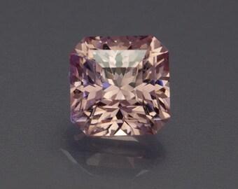 2.85ct 7.27mm- Fantastic Pink/Peach Mahenge Garnet Faceted Square loose Gemstone from Tanzania.