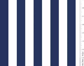 One Inch Stripe Navy: Riley Blake Designs 7 Yard Cut