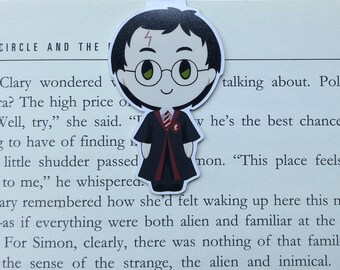 Harry - Magnetic bookmark ||  hp inspired, book lover gifts, witchcraft, harry potter bookmark, magic, wizard, always, wizardry