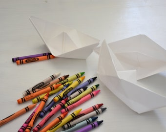 Paper Boats, Birthday Party Favors for Kids, Origami Boats for Kids, Paper Party favors, Kids Birthday Favors, Unique Party Favor