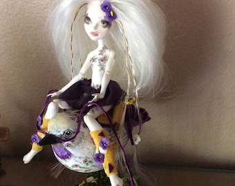 Monster Doll High Repaint. Pansy SOLD on layaway for Amber 4 of 4