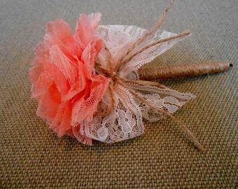 Rustic Coral Wedding Guest Book Pen / Guestbook Pen / Coral Wedding Pen / Rustic Wedding Pen / Sign In Pen / Guest Book Pen / Bridal Shower