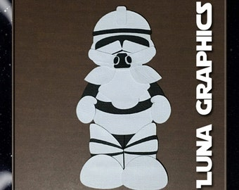 STORM TROOPER Embellishments Paper Piecing card making and scrapbooking