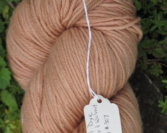 Dusty Apricot Hand Dyed Superwash Worsted Weight Wool