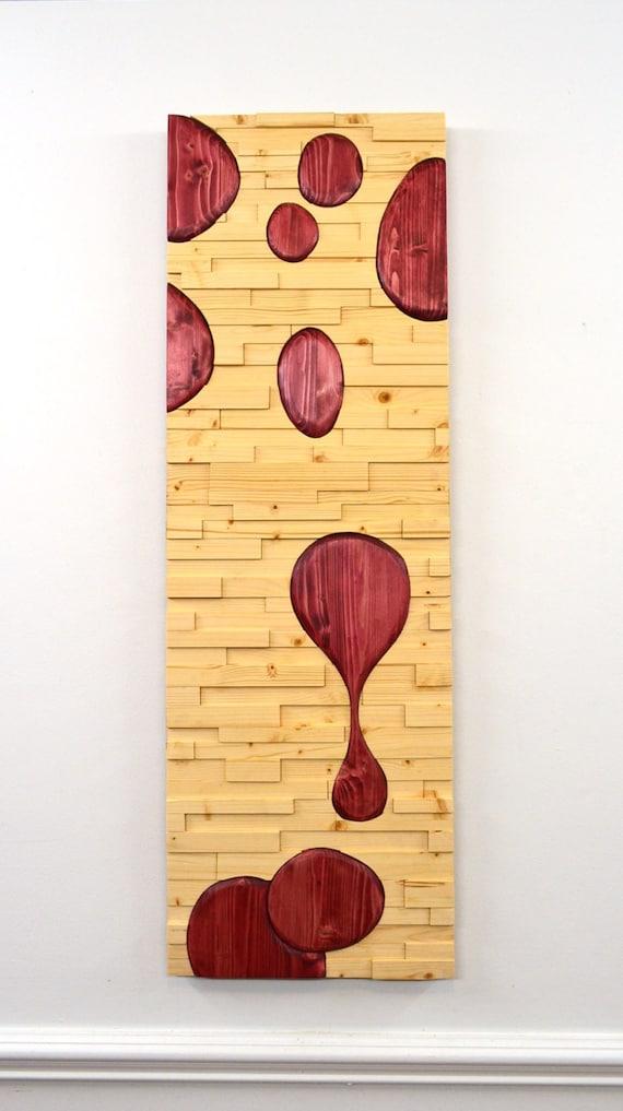 wood wall art LAVA abstract art wooden wall