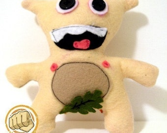 Naked No Shame Nate by UltraPunch Toy Co., stuffed animals plush softie monster nude cuddly felt