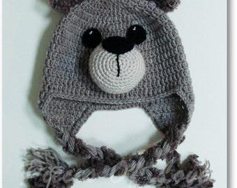 Bear Hat Christmas present Christmas gift Crochet Bear Hat Animal Hat Crochet Animal Hat Warm Winter Hat Warm Children's Present Kids Gift