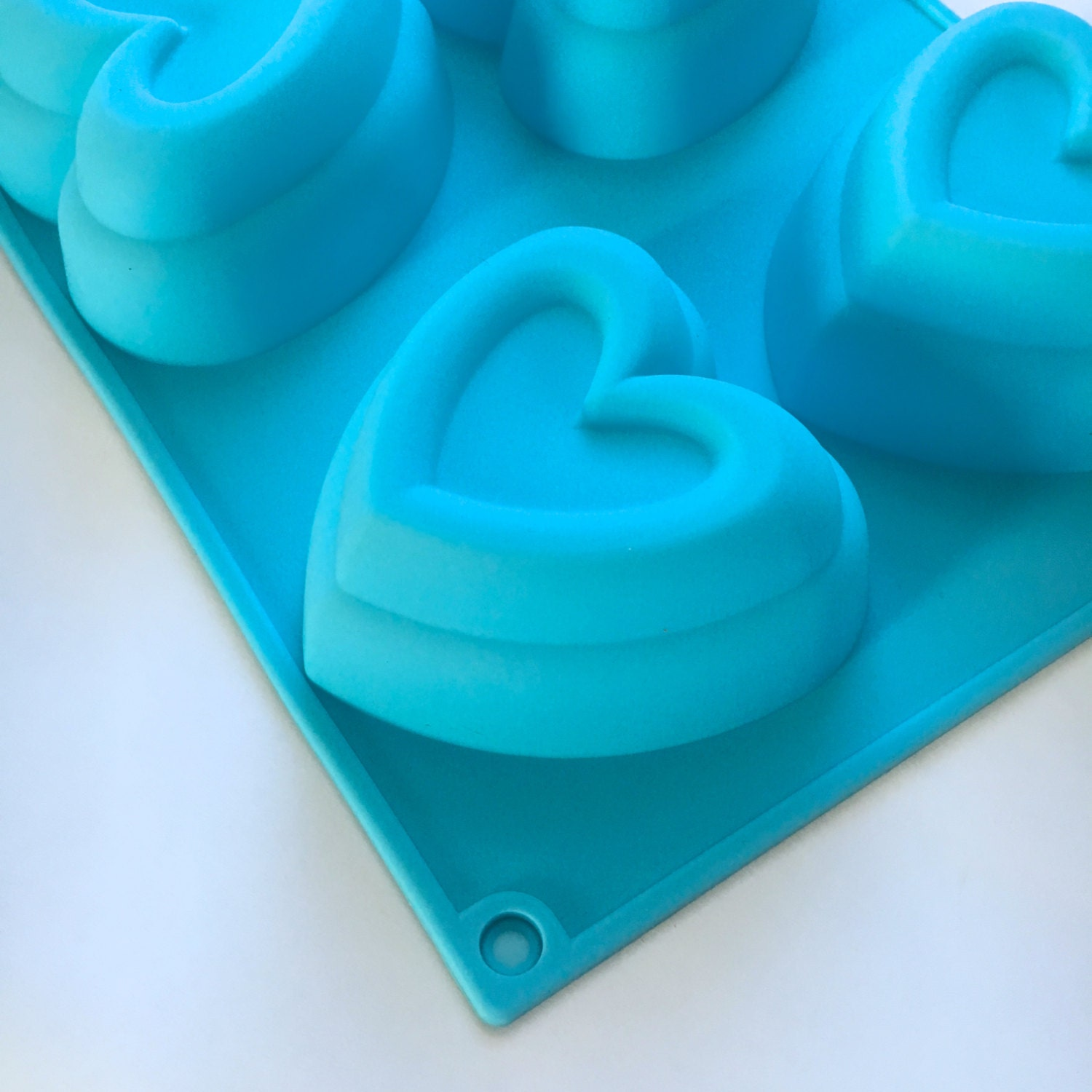 FRAMED HEART Soap Mold, Silicone, 6- 4oz Cavities, Two Wild Hares