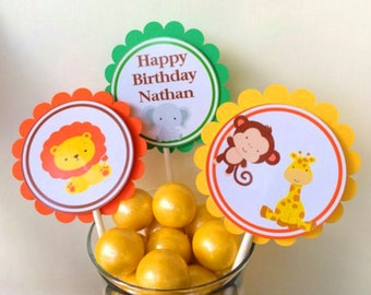 Jungle Baby Cupcake Toppers