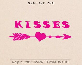 Kisses svg Summer SVG Arrow svg Arrow Dxf Girl svg Baby svg files for Cricut Dxf Cricut downloads Silhouette designs Cricut designs