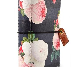 Webster's Pages Black Floral POCKET Travelers Notebook