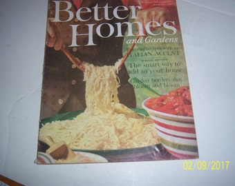 March 1961 Better Homes & Garden Magazine Italian Spaghetti Paper Ephemera
