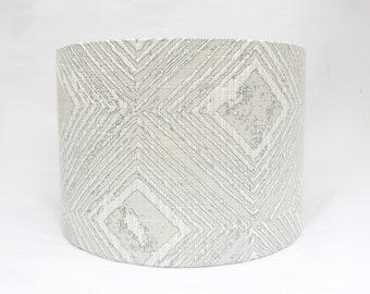 Silver lampshade, drum lampshade, geometric lampshade