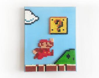 Super Mario Bros. Perler Pixel Painting / Perlainting